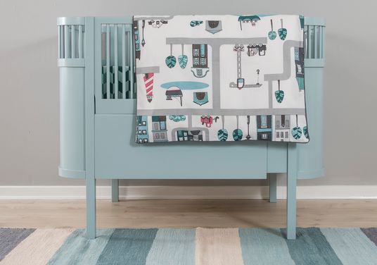 Pastel blå kili seng fra Sebra