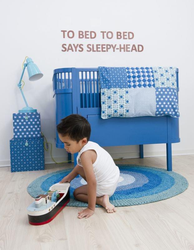 Blå kili seng